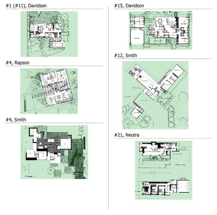 Case study house 21 floor plan for Case study houses floor plans