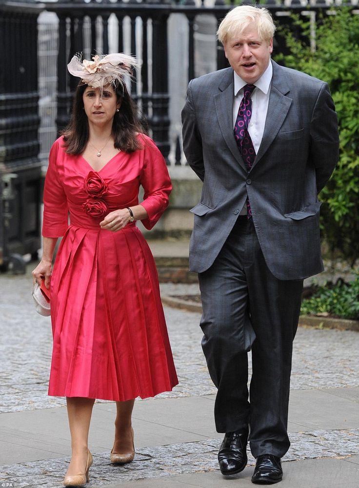 London Mayor Boris Johnson and his wife Marina arrive at St Paul's Cathedral for the morning event