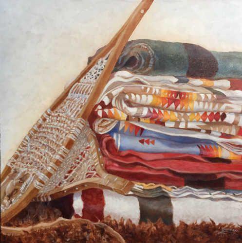Janice Iniskim-Aki Tanton Artwork in Canada House Gallery