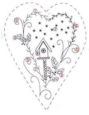 coração com casinha de passarinho