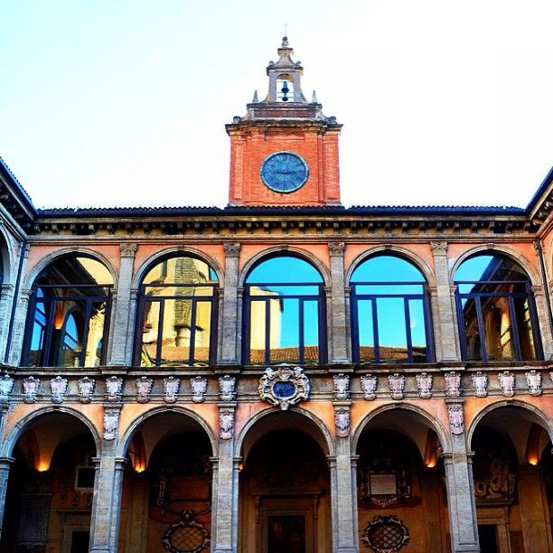"""Archiginnasio Public Library in Bologna,   """"the heart of one of the oldest universities in the world"""""""
