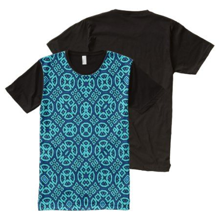 Abstract Pattern blue All-Over-Print Shirt - tap, personalize, buy right now!