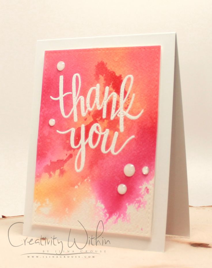 Creativity Within : Watercolor Smoosh technique VIDEO and a card