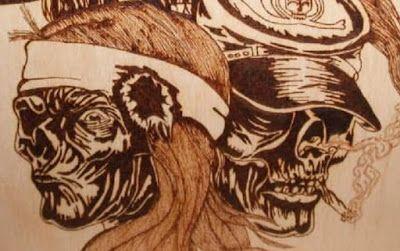 """TB Pyroart Creations: """"Friends even after death""""  - Pirografia su legno"""
