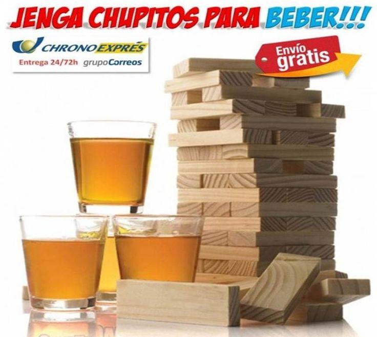 #regalos #jenga #juegos #chupitos #beber #hogar #ofertas #descuentos Comprar juego Jenga con chupitos para beber con los amigos. tienda de regalos originales para el Hogar. http://www.yougamebay.com/es/product/jenga-juego-de-chupitos-para-beber---regalos-originales