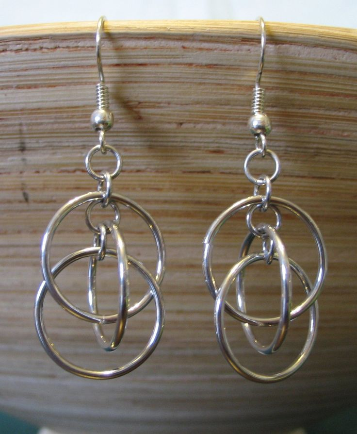 Orbit Chainmaille Earrings. Get your jump rings at www.fizzypops.com. Make your own today!