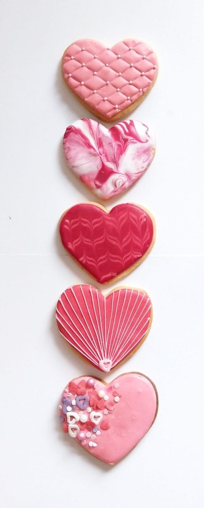 Valentinstag Valentines Day Heart Valentin Herzen Cookies