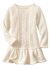 Sweet cable knit dress from Gap