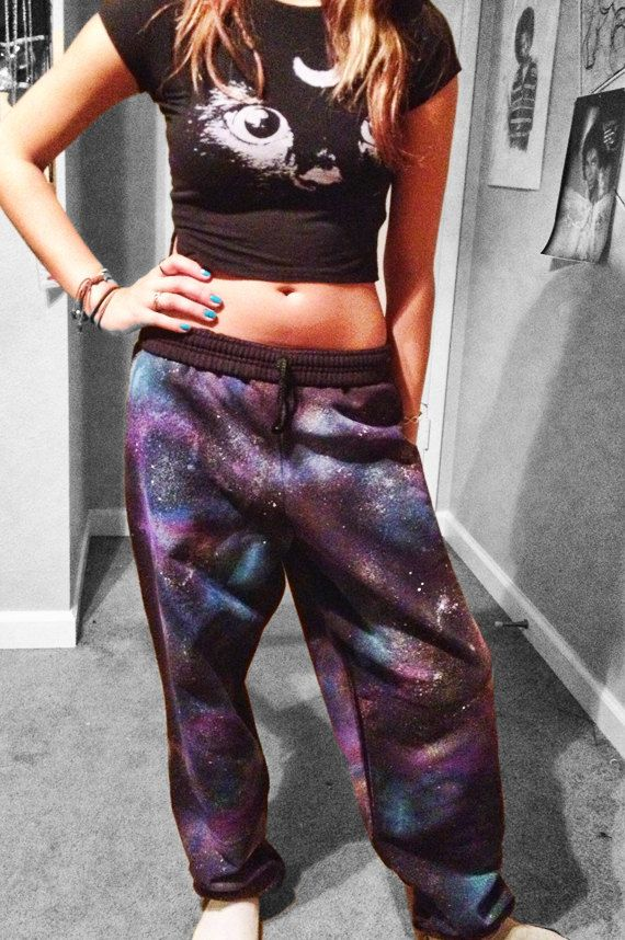 "BREADHeads Galaxy Cosmic ""Astro""  BAGGY Sweatpants - Xmas Ships Fast - PANTS Sweats Small Medium Large or X-Large on Etsy, $40.00"