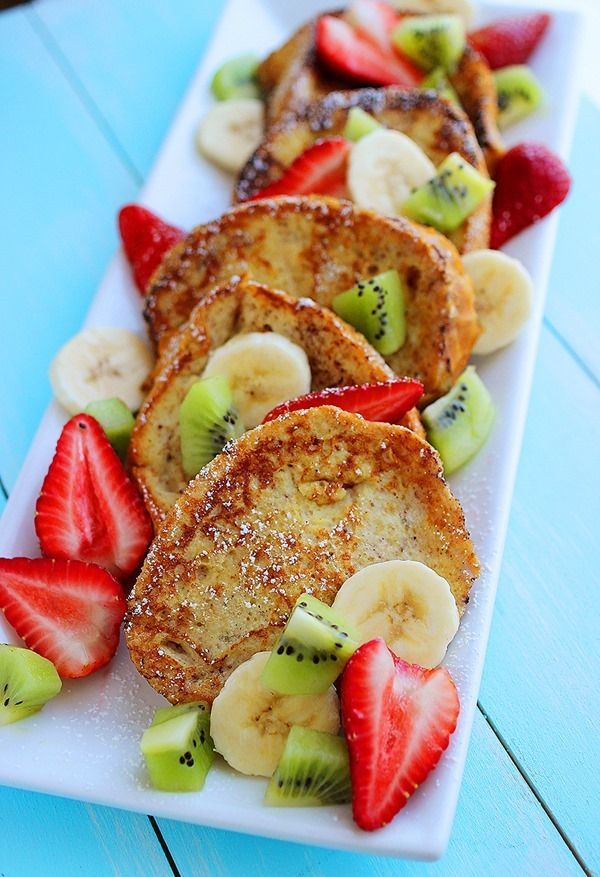 Overnight Cinnamon Vanilla French Toast from our pal @georgia lin. Johnson - perfect for a weekend brunch!