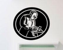 Lasser muur Sticker lassen Vinyl Decal huis Garage kamer interieur decoratie waterdichte hoge kwaliteit muurschildering (177xx)