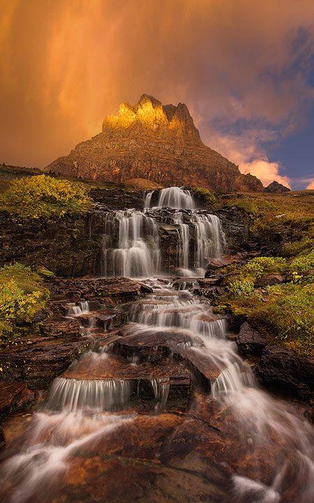 Dawn Waterfall, Clements Mountain, Montana