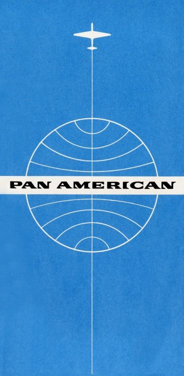 hommeanddesign:  Pan American World Airways ticket jacket c. 1960 From Painted Wings: a History of Airline Identity, an exhibit on display through August 14, 2009 at the San Francisco Airport Library. Follow HOMME & DESIGN
