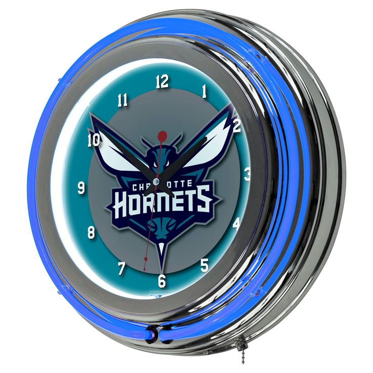 Charlotte Hornets Team Logo Wall Clock
