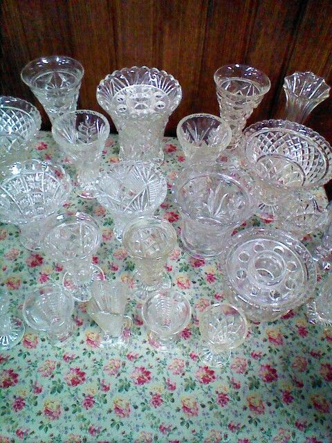 A small section of our vintage vases available for hire