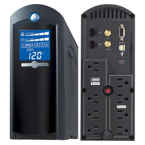 CyberPower Intelligent LCD Series UPS 1500VA 900W 8-Outlet