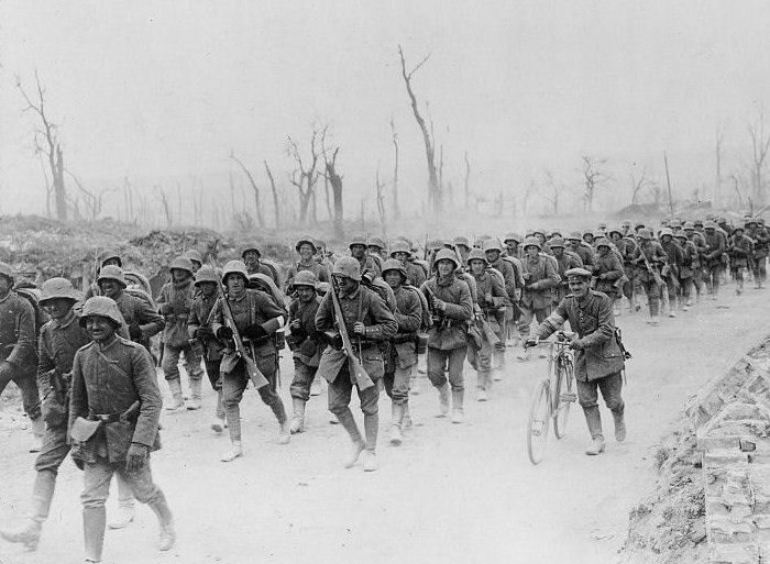 The History Place - World War I Timeline - 1918 - Germans in Motion