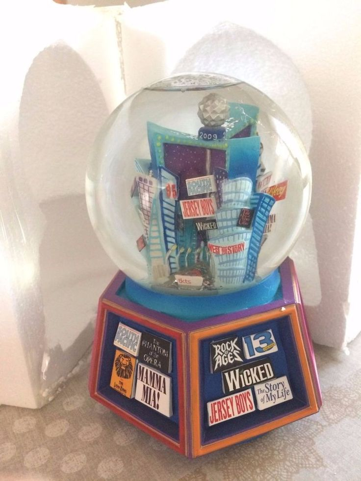2009 Broadway Cares musical theater snow globe