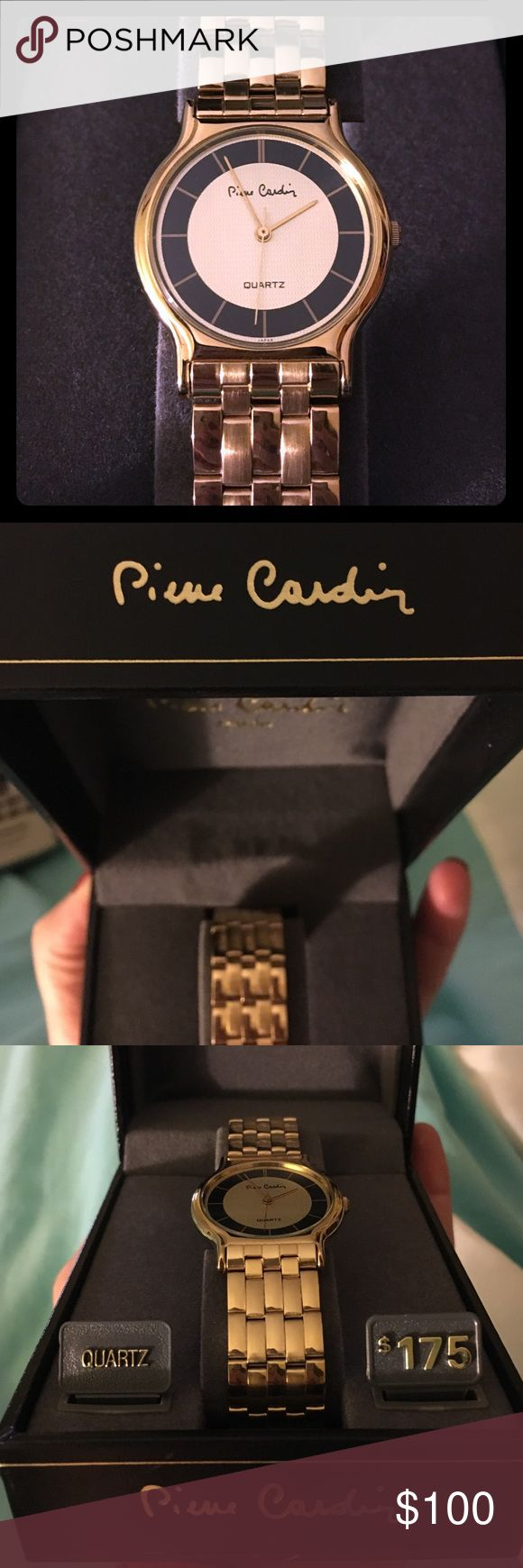 Brand new gold watch Never used. Brand new. Women's watch! Authentic watch! Just needs a battery! Pierre Cardin Accessories Watches