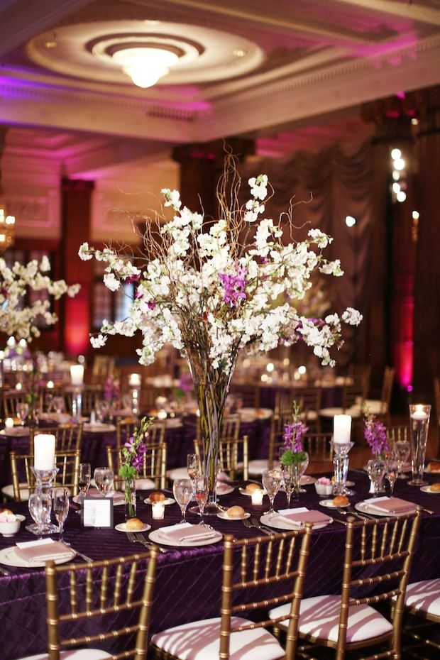 curly willow branch and rose centerpieces | Wedding Wednesday: Branchy | Beautiful Blooms