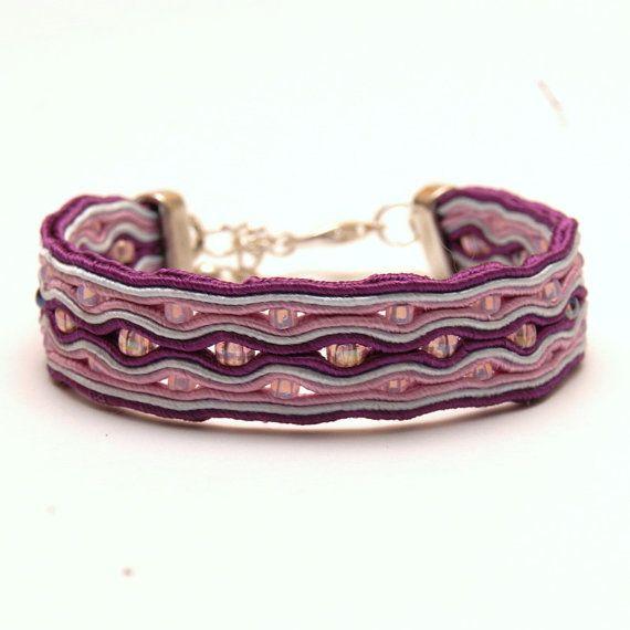 Bracciale Viola - handmade soutache bracelet