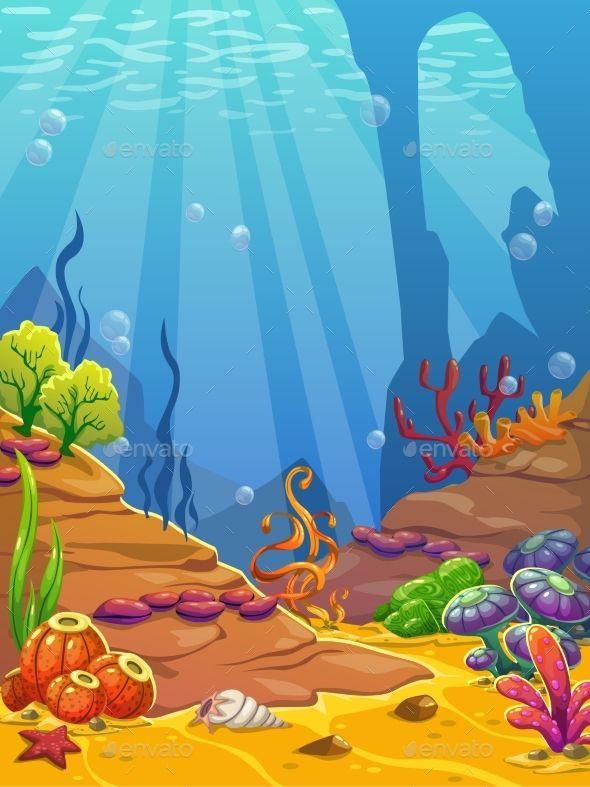 Cartoon Underwater Background Underwater Background Underwater Cartoon Underwater Art