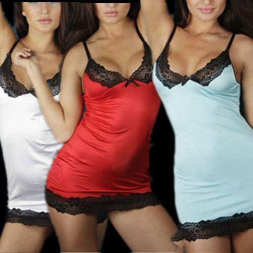 Sexy Women Lady  Sleepwear Lace Dress Underwear Nightwear G-string LH