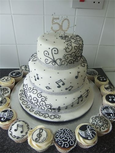 music theme cake... this will be my birthday cake. well, something like it... i don't need a 3 tier cake.