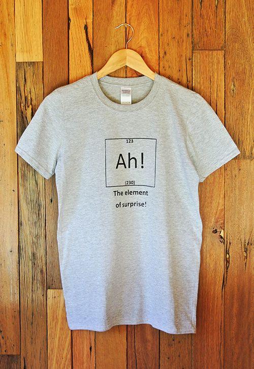 Mens T-Shirt AH! The element of surprise!