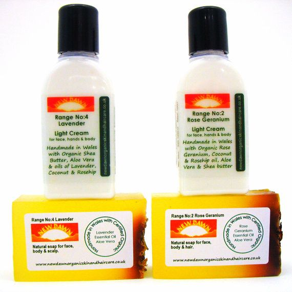 Eczema/Psoriasis Cream & Soap Sample Pack  by NewDawnOrganicSkin