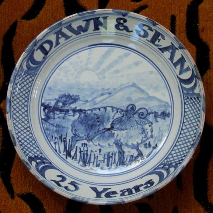 Large Anniversary Platter & 49 best Anto made Delft ware: Tin-glazed Blue-and-white Earthenware ...