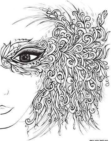 Girl prom dress adult coloring pages online free print Girl prom ...