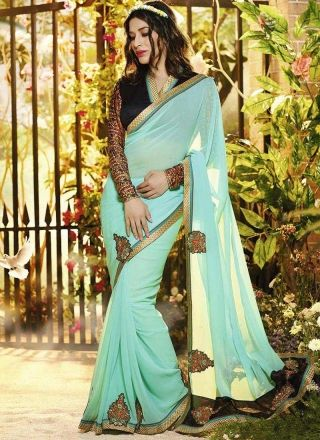 Sofia Hayat Latest Designer Georgette Bollywood Saree http://www.angelnx.com/Sarees/Bollywood-Sarees#/sort=p.sort_order/order=ASC/limit=32/page=4