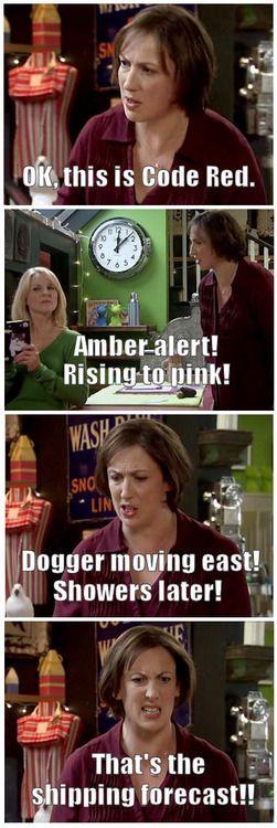Miranda Hart: That's the shipping forecast!