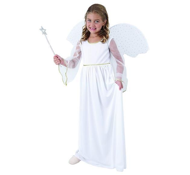 Strój Aniołka dla dzieci. Doskonałe przebranie na Jasełka lub przedstawienia Bożonarodzeniowe.
