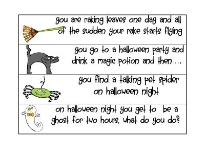 cute fall writing prompts for work on writing 4th grade frolics october 2011 - Halloween Stories Kids
