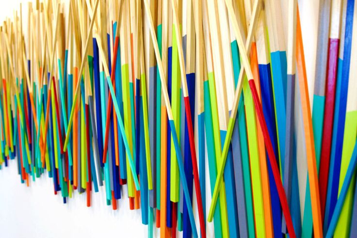 Hand dipped wood wall sculpture | Custom Corporate Art Installation | See more on the blog | rosemary pierce modern art