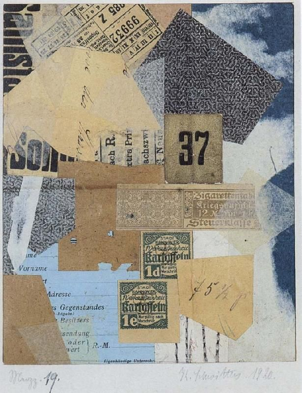 Kurt Schwitters. Love the ability to take ordinary found objects and turn them into something else less ordinary
