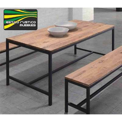 Caballete de hierro con tablero dise o moderno para mesas - Caballetes de hierro ...