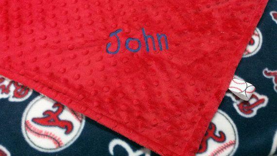 Personalized Atlanta Braves Baseball Fleece and by TreasuredMinky, $34.95
