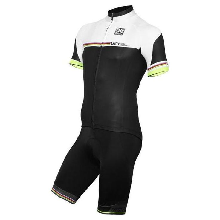 The Santini UCI World Champion Team Kit is based on multicolor design of the UCI World Champion team and offers good performance for the activity with performance and comfort.  #santini #uciworldchampionteamkit #retto