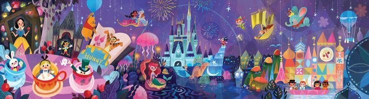 Mural for Disney Tokyo Celebration Hotel by Joey Chou