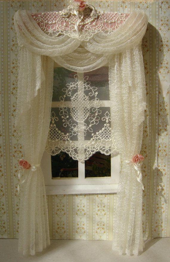 Charming Miniature Dollhouse Curtains By TanyaShevtsova On Etsy