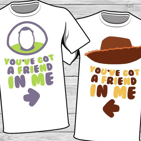 Disney Couple Iron On - Woody & Buzz - You have a friend in me T-shirt Transfer Printable - Couples matching shirt - Family Vacation shirts
