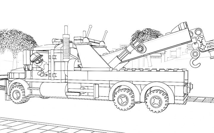 Lego Coloring Page 60056 Great Vehicles 1 Lego Lego Coloring