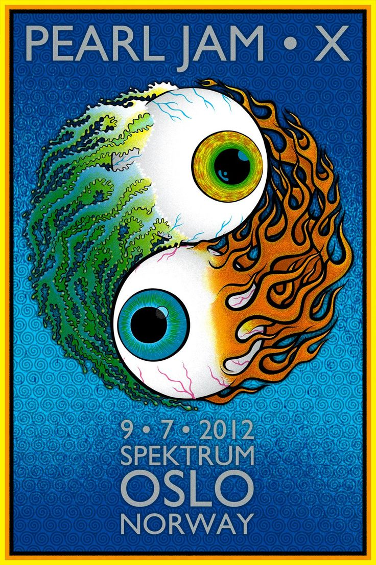 INSIDE THE ROCK POSTER FRAME BLOG: Chuck Sperry & Chris Shaw Pearl Jam Oslo Poster On Sale