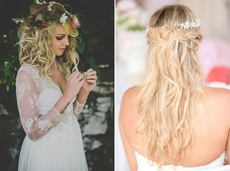 1000 ideas about coiffure mariage cheveux lachs on pinterest coiffure mariage coiffures and coiffure cheveux lachs - Coiffure Mariage Cheveux Mi Long Lachs