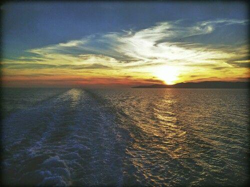 Blue star ferries.. #sunset