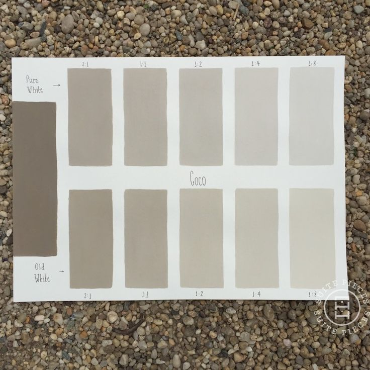 Chalk Paint® Coco Custom Color Chart using Pure White and Old White. Read more on our blog at Suitepieces.com | Suite Pieces