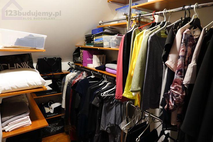 nasza garderoba samodzielny montaż półek i rurek na ubrania wyposażona garderoba - Garderoba, Poddasze, Zabudowa Garderoby, Szafa, Ubranie, Drążek, Półki